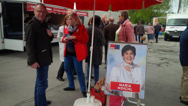 Infostand der Traunreuter SPD zur Europawahl