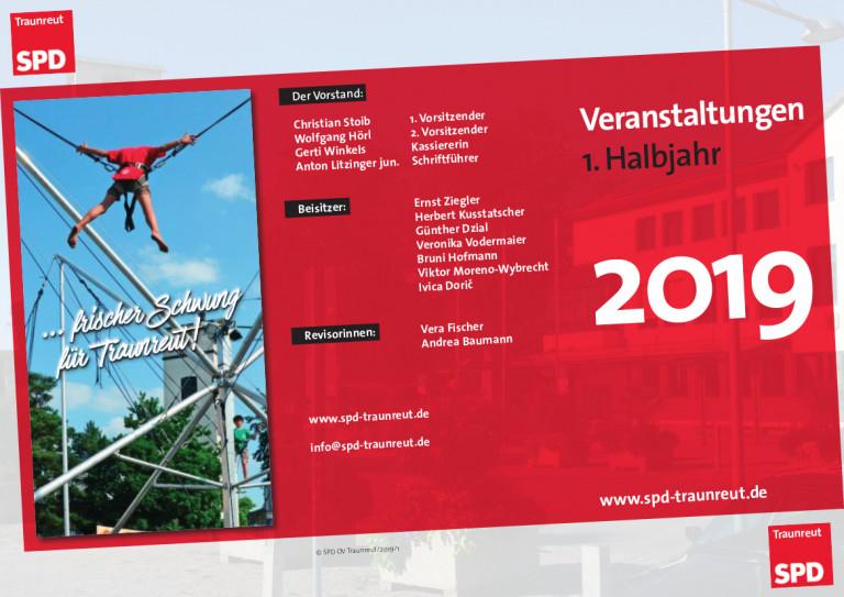 Flyer für das erste Halbjahr aussen